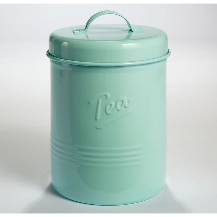 ASDA Embossed Tea Canister - Duck Egg Blue | Kitchen Storage | ASDA direct £4