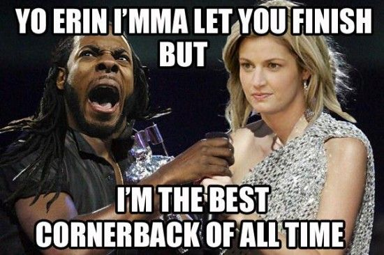 Richard Sherman memes. Hysterical. Can't stand this cocky s.o.b. Hope the Broncos stomp the Seahawks at the Super Bowl.