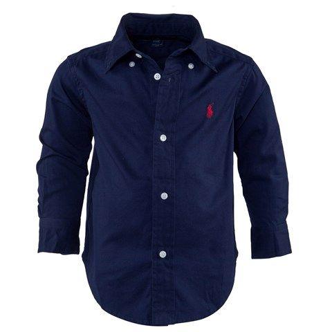 Ralph Lauren Navy Lightweight Twill Shirt   AlexandAlexa