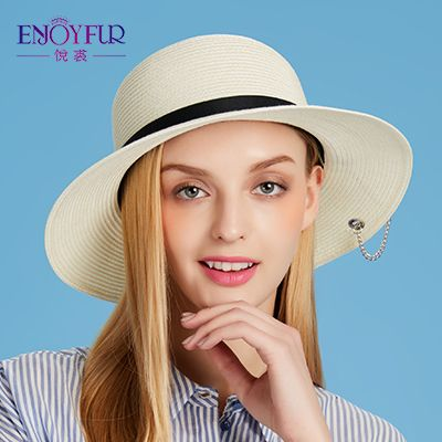 Women sun hat for Summer large brim straw hats with Metal star accessories sunscreen vacation outdoor classical female caps Like if you are Excited! Visit our store