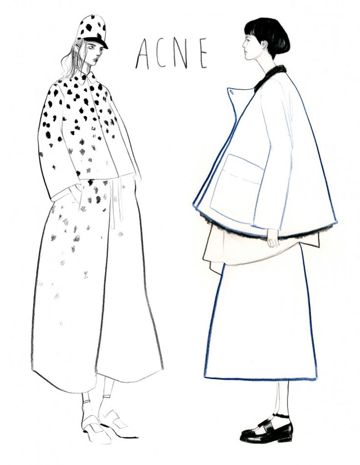 illustrated fashion sketches pinterest - Google Search