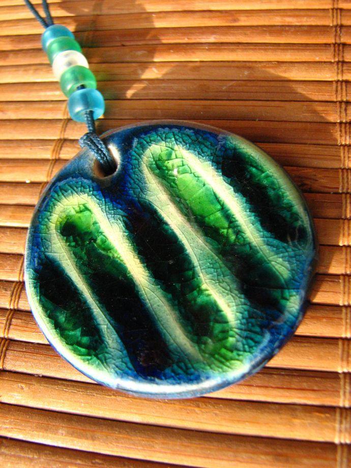 koyu mavi-koyu yeşil uzun seramik kolye - Kolye 213436 | zet.com
