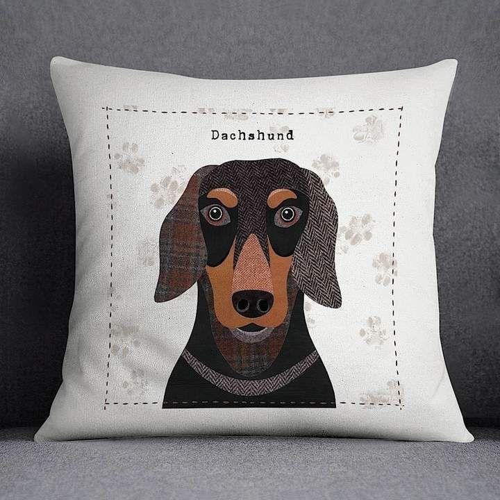 Simon Hart Dachshund Personalised Dog Cushion Cover With Images