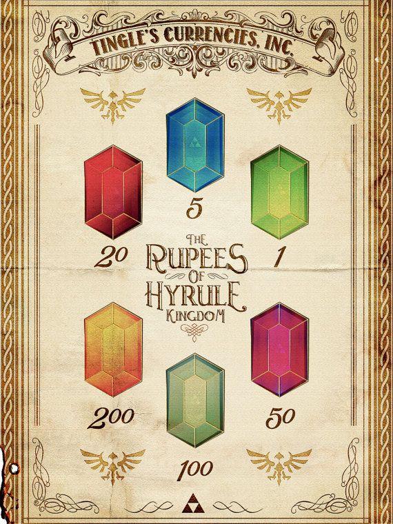 "Legend of Zelda - Tingle's Ring of Rupees of Hyrule Kingdom Version - signed museum quality giclée fine art print 16"" x 20"""