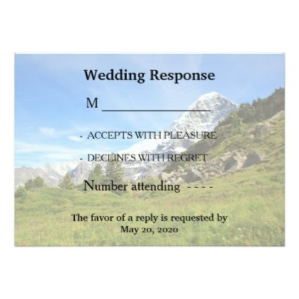 #wedding #responsecards - #Mountain Swiss country wedding RSVP response cards