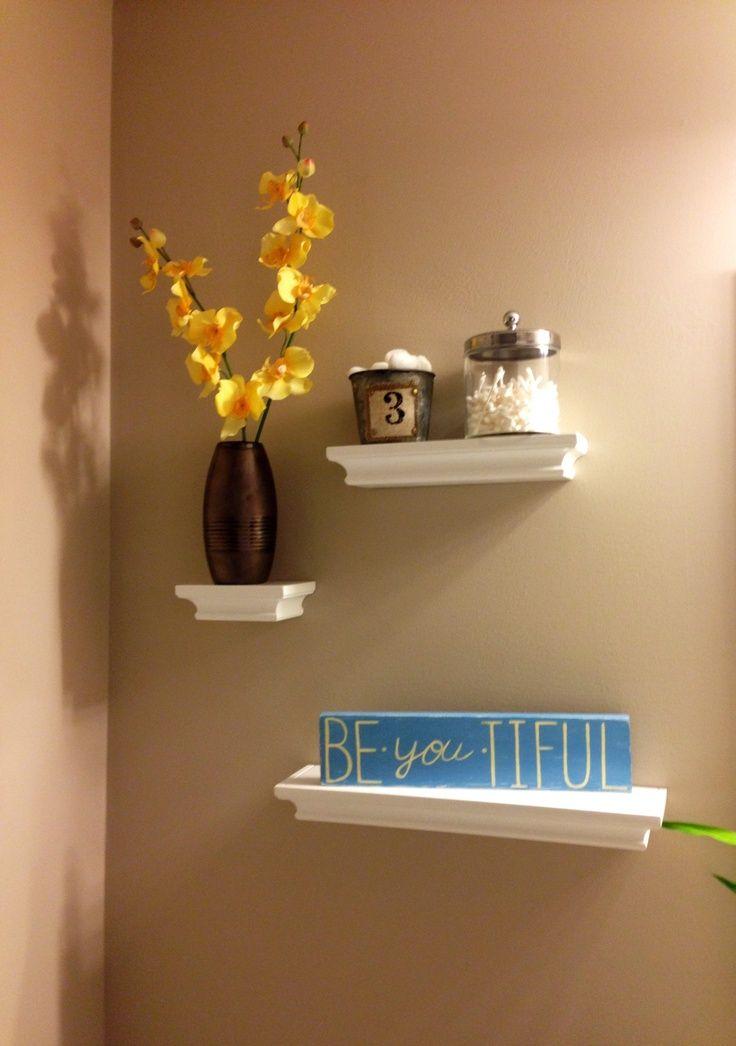 Shelves above toilet in guest bath   – Home Castle – #bath #Castle #Guest #Home …   – most beautiful shelves