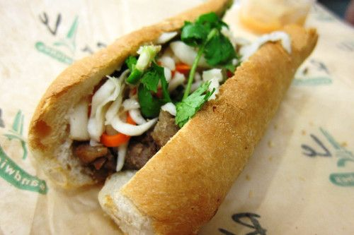 Banh Mi sandwich from ba Le Bakery in Chicago #BanhMi
