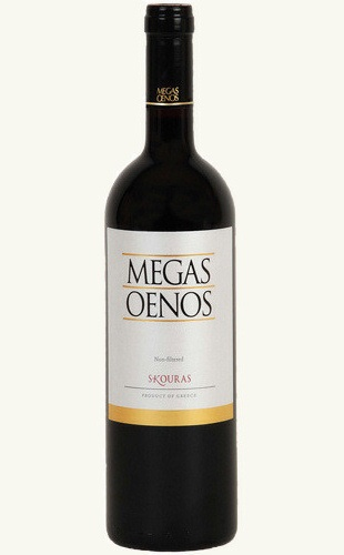 Domaine SKOURAS - Megas Oenos Varieties: Aghiorghitiko 80%,Cabernet Sauvignon 20% Very deep color - intense purple. Οn the nose it is dense, concentrated and complicated but elegant. Aromas of ripe fruit such as blackberries and black raspberries coupled with spicy characteristics, smoke and a touch of leather. The mouth it is silky but powerful framed by delicate tannins and gentle acidity offering flavours of ripe fruits, cloves, black pepper and just a touch of herbs.