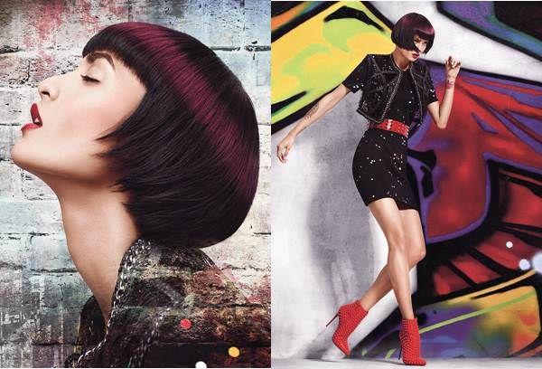 Downtown Halo ist ein neuer Haarstyle, der von einer Marotte der Graffitit-Szene inspiriert ist. So wie die Street Artists einen Heiligenschein über die Werke verstorbener Künstler sprühen, legt sich hier ein Heiligenschein über die eigentliche Haarfarbe.