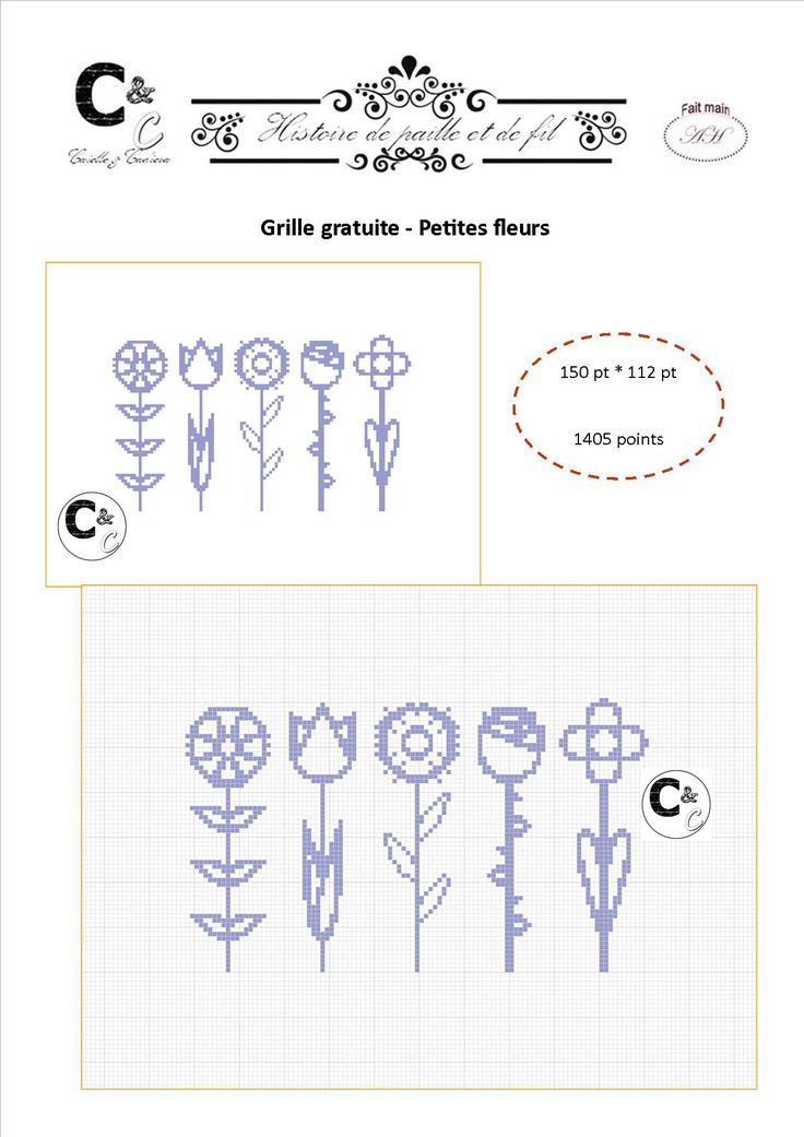 Grille gratuite - Petites fleurs