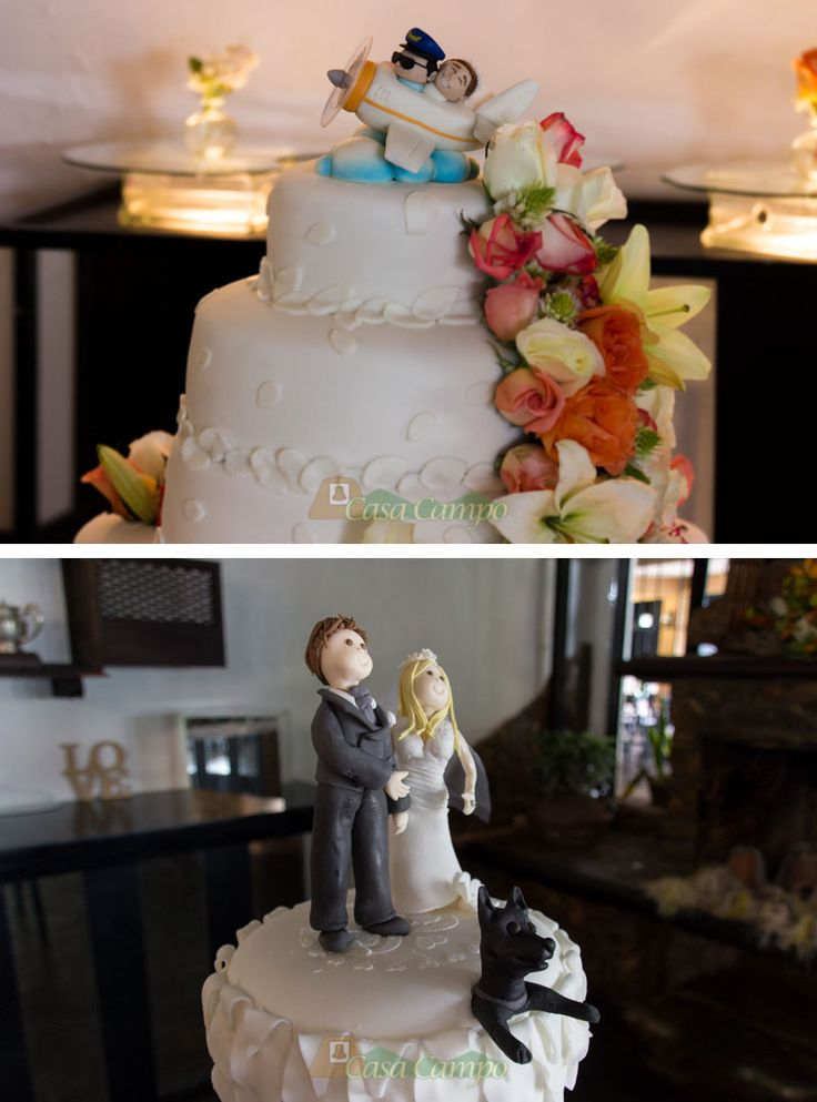 Muchos novios deciden personalizar la torta de bodas con recuerdos o detalles de su relación