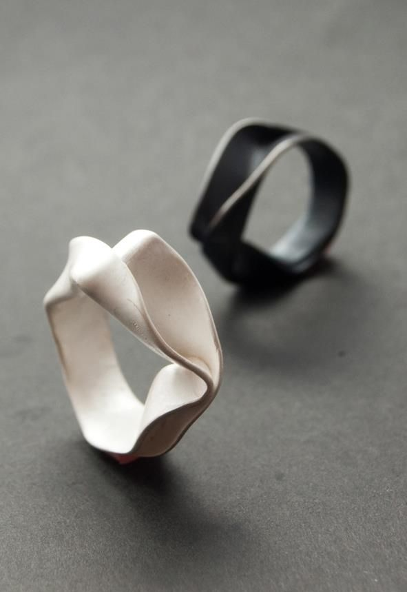 »Fold formed rings; elegant contemporary jewellery design« #jewelry #ring