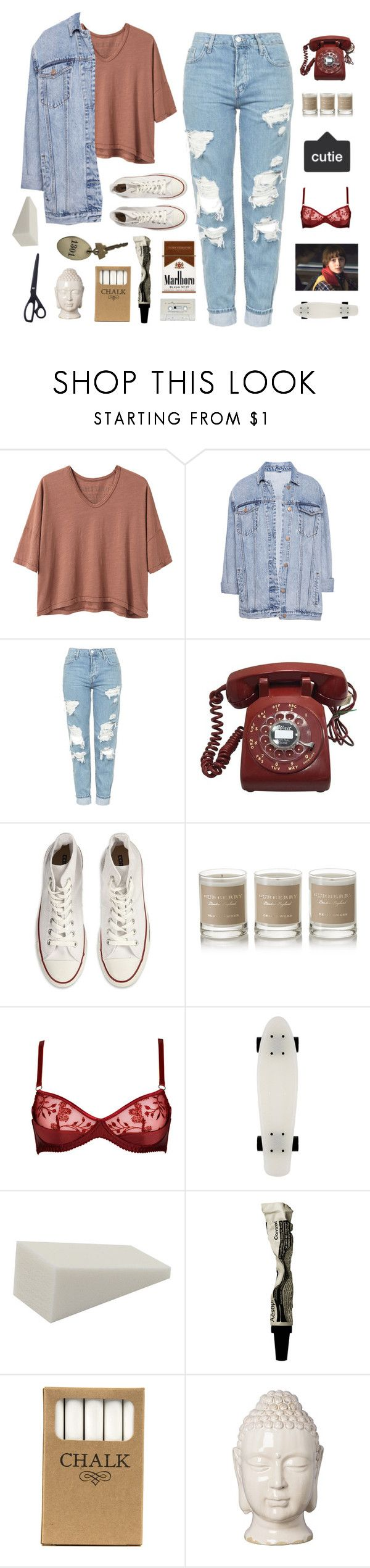 """""""BAD NEWS WHEN YOU SEE THAT BLOODY NOSE"""" by midsummer-dreams ❤ liked on Polyvore featuring Alexander Yamaguchi, Pull&Bear, Topshop, Converse, Burberry, Aesop, Jayson Home, Emissary, HAY and KarisSets"""