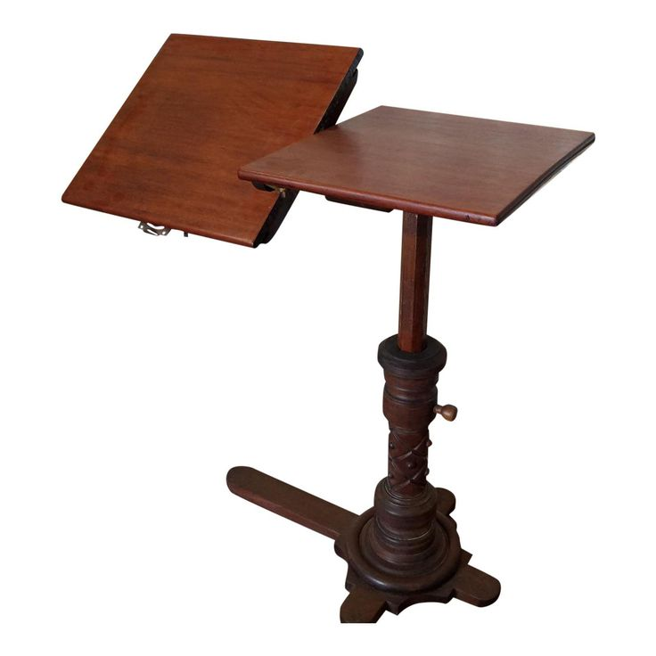 Very Good Antique Victorian Mahogany Adjustable Book Reading Bed Table w/ Tilt c1880 - Image 1 of 11