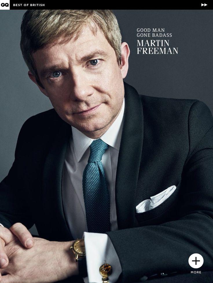 Hot. {Martin Freeman from GQ UK. You can buy it here! https://itunes.apple.com/jp/app/gq-magazine-uk/id439884658?mt=8 }