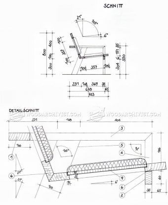 #2456 Wooden Couch Plans - Furniture Plans