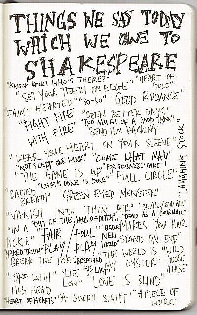 Ci sono tantissime frasi che sono entrate nel linguaggio comune, che sono state coniate da Shakespeare....qual'è la vostra preferita?