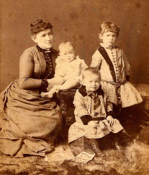 Reformer  Educator Adelaide Hunter Hoodless with her children. Unfortunately the death of her infant son due to drinking  tainted milk fostered her crusade for Women's education.