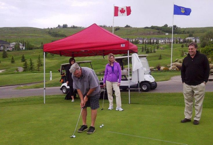 "Skip Gibson of George's Cream at Links Of Glen Eagle Resort in Cochrane, Alberta & sponsors Air Canada ""Dreams Take Flight"" children charity program."