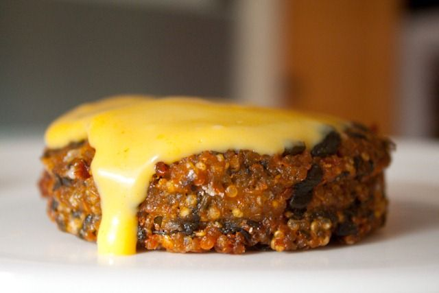 Loaded Quinoa Burgers - this veggie burger is out of this world!