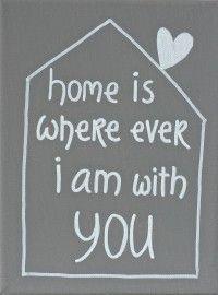 Kiz Canvas - Home is where ever ....