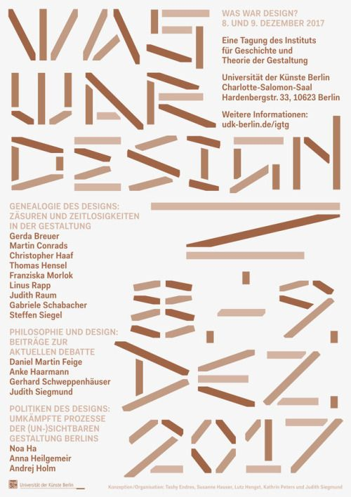 """Was War Design?"" seminar/lecture at UdK Berlin. Poster,Design..."