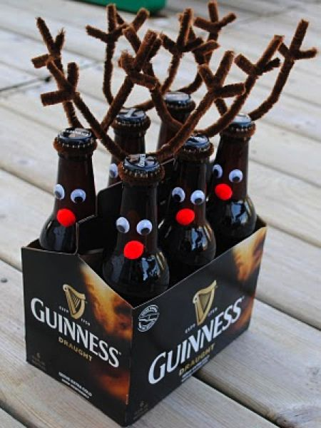 Guiness reindeer - possible idea for holiday present - have so many people I think this would be great for.