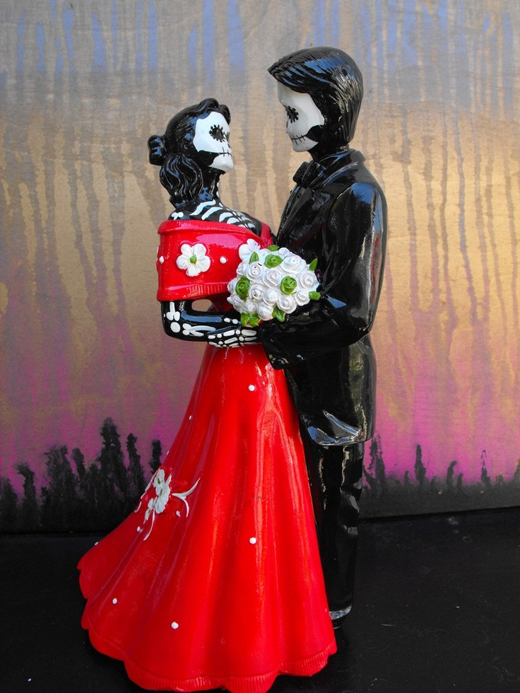 day of the dead wedding cake topper bride and groom day of the dead wedding cake topper and black 12 inches 13361