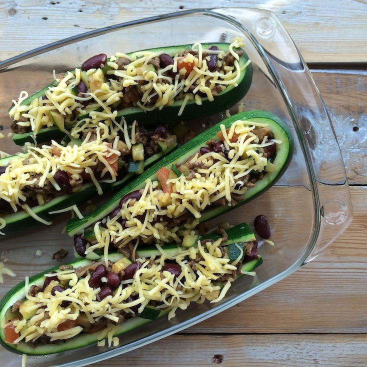 Mexicaanse gevulde courgette_3
