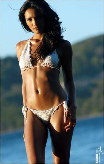 sexy white crochet bikini just like the bikinis found on
