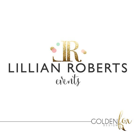 Premade logo for photographers and other small business owners, confetti, gold glitter, sparkles, fashion, blogger, photographer, Watermark Logo Photography by GoldenFoxDesign, $35.00