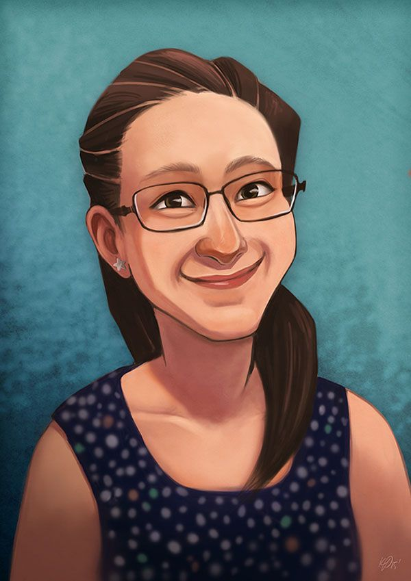 Self-portrait (Kristy Kate) www.kristykate.com #self-portrait #illustration #photoshop