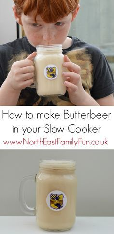 How to make Butterbeer in your Slow Cooker. An easy recipe with Yazoo flavoured milk