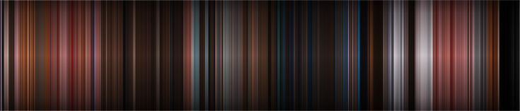 Colour is of huge important in movies, whether its the set, costume, lens or colour grading added in post-production, and it's been shown off perfectly in a series of images created by a program that take the average colour of each frame and plots them next to each other. Seven have so far been created by Dillon Baker, showing the oceanic blues of Finding Nemo, the dusty pink of Wes Anderson's Grand Budapest Hotel and the vivid reds, purples and blues of Disney animation Aladdin.
