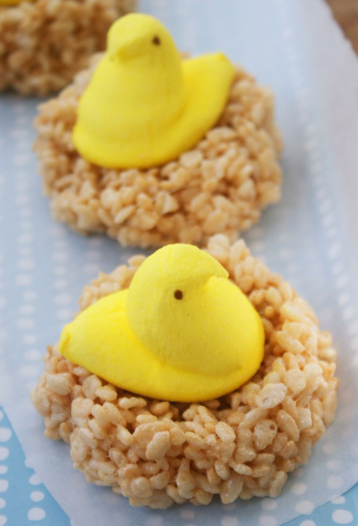 Marshmallow Peeps in Crispy Nests... so easy for Easter!