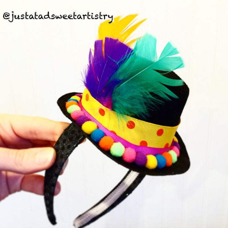 Easy DIY Clown Hat-Headband. Everything available at most craft stores!