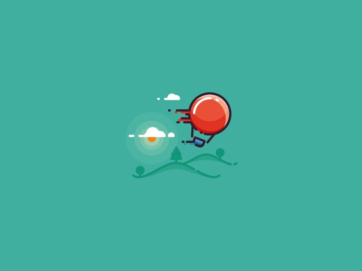 When wind is too strong - hot air balloon illustration by Infographic Paradise