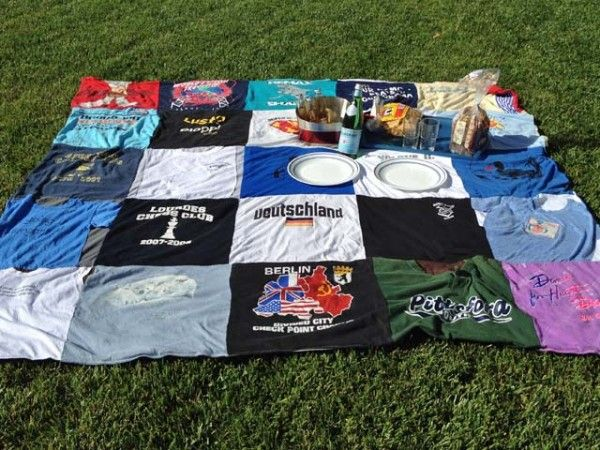 This is one of my favorite Daily Grommet finds: Project Repat.  Usable items made from your favorite old t-shirts
