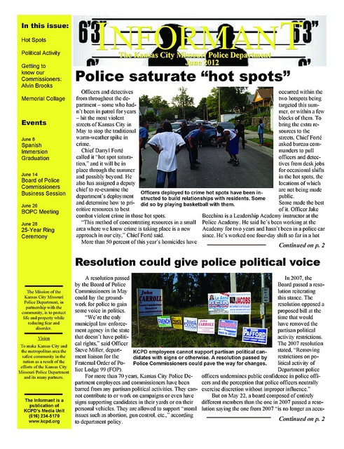 Best Kcpd Monthly Newsletters Images On   Police