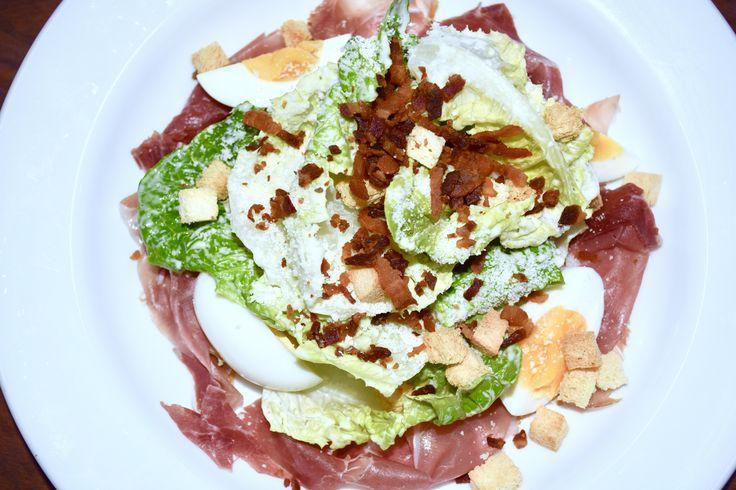 caesar salad with parma ham
