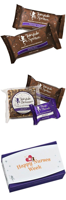 Fairytale Brownies Nurses Week Treasure Medley Gourmet Food Gift Basket Chocolate Box - Full-Size, Snack-Size and Bite-Size Brownies - 12 Pieces