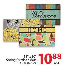 "18"" x 30"" Spring Outdoor Mats from Walmart Canada $10.88"
