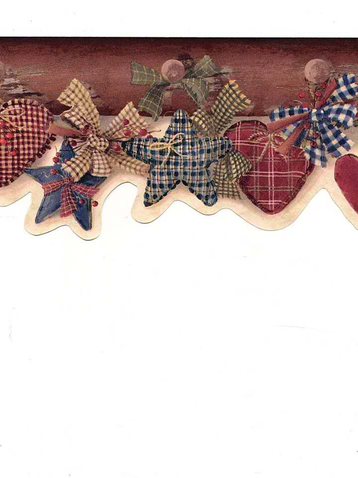 country heart wall boarders | Rusty Hearts And Stars Wallpaper Border Country Folk Wallpaper Borders