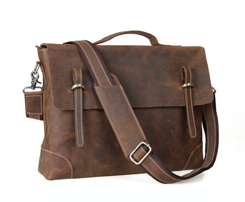 Kattee Genuine Leather Messenger Bag Tote, Leisure 15 Inch Laptop Briefcase Kattee http://www.amazon.com/dp/B00GGG96RA