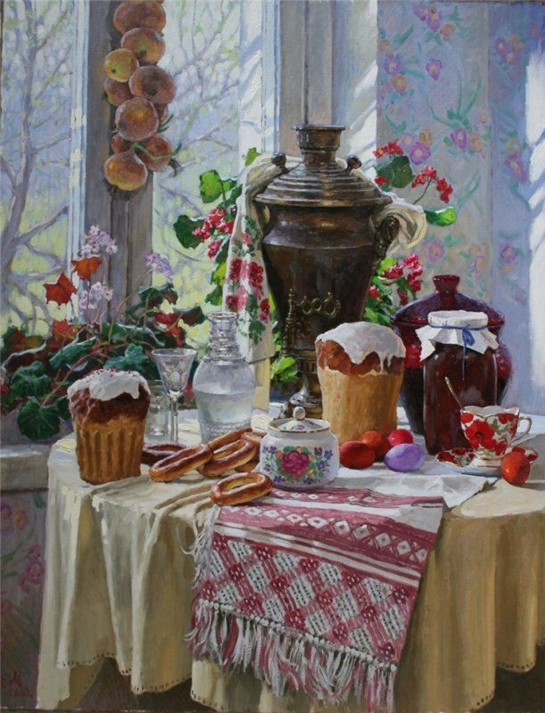 Евгений Муковнин Пасхальный натюрморт. (Evgeni Mukovnin)