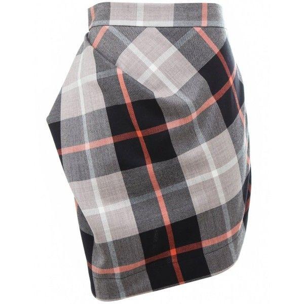 Philosophy Vivienne Westwood Anglomania Mini Skirt ($110) ❤ liked on Polyvore featuring skirts, mini skirts, short skirts, ruched mini skirt, draped mini skirt, draped asymmetrical skirt and wool skirt