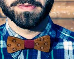 Wooden bowties made from recycled wood!
