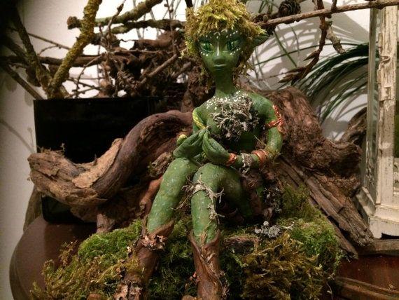 moss fairy chibi forest spirit by myfantasyworldanna on Etsy