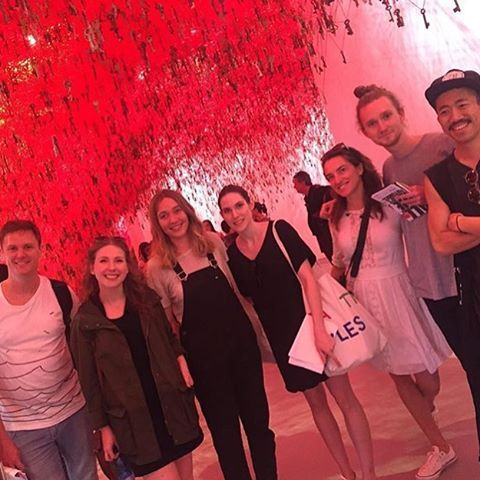 Regram @unswgalleries Felicity Fenner and A&D Curating & Cultural Leadership students are currently at the Venice Biennale! Here they are visiting Chiharu Shiota's work at the Japan Pavillion