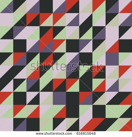 Vector red-black abstract triangle seamless pattern texture background